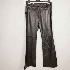 Barbara Bui black lamb leather pants
